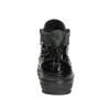 Skórzane trampki za kostkę, zzamkami bata, czarny, 546-6600 - 17
