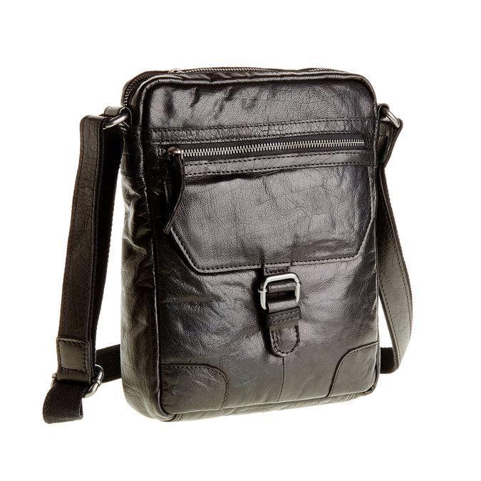 Skórzana torba Crossbody bata, czarny, 964-6180 - 13