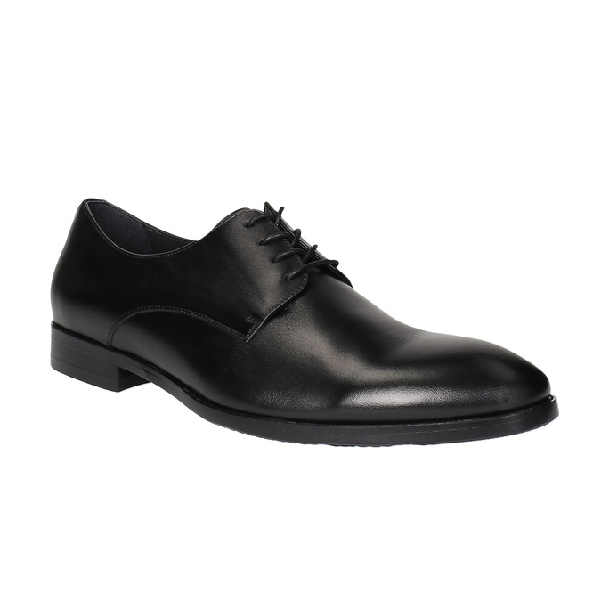 Czarne półbuty ze skóry bata, czarny, 824-6732 - 13