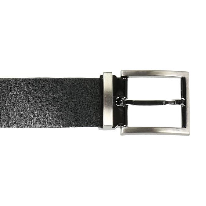 Skórzany męski pasek bata, czarny, 954-6129 - 26