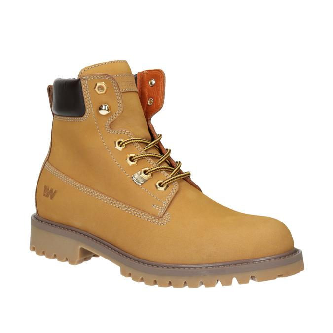 Skórzane buty damskie weinbrenner, brązowy, 596-8629 - 13