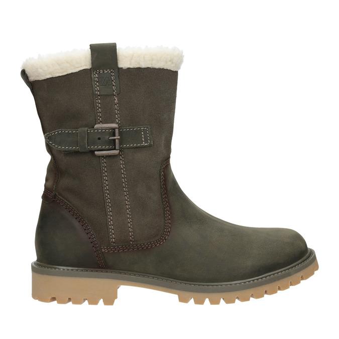 Zimowe buty damskie zfuterkiem weinbrenner, khaki, 594-2455 - 26