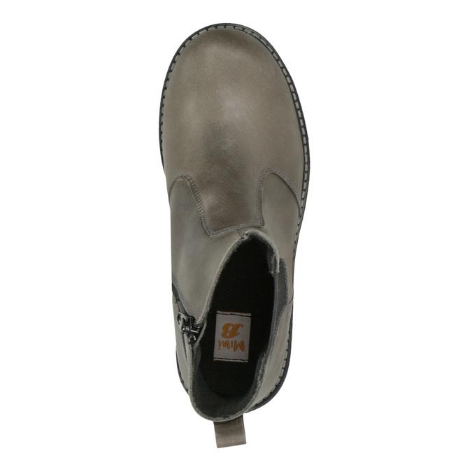 Dziecięce skórzane botki mini-b, brązowy, 394-2316 - 19