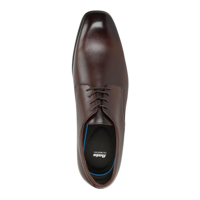 Skórzane męskie półbuty typu Derby bata, brązowy, 824-4752 - 19