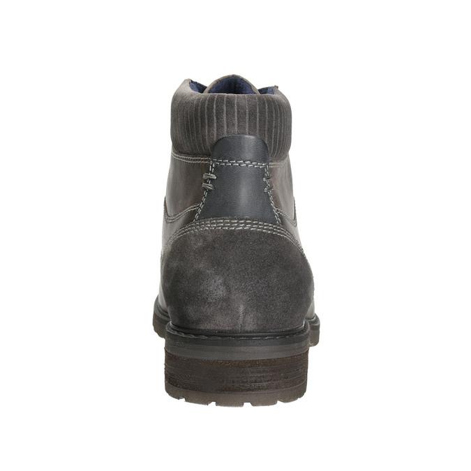 Skórzane buty do kostki bata, szary, 894-2643 - 17