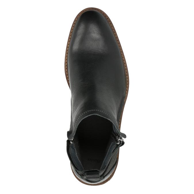 Skórzane buty męskie za kostkę bata, czarny, 894-6660 - 19