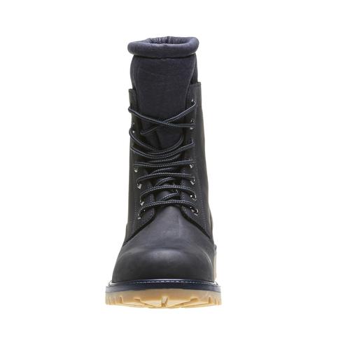 Skórzane ocieplane buty za kostkę conhpol, czarny, 894-6677 - 16