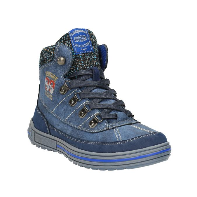 Dziecięce buty za kostkę zociepliną mini-b, niebieski, 491-9651 - 13