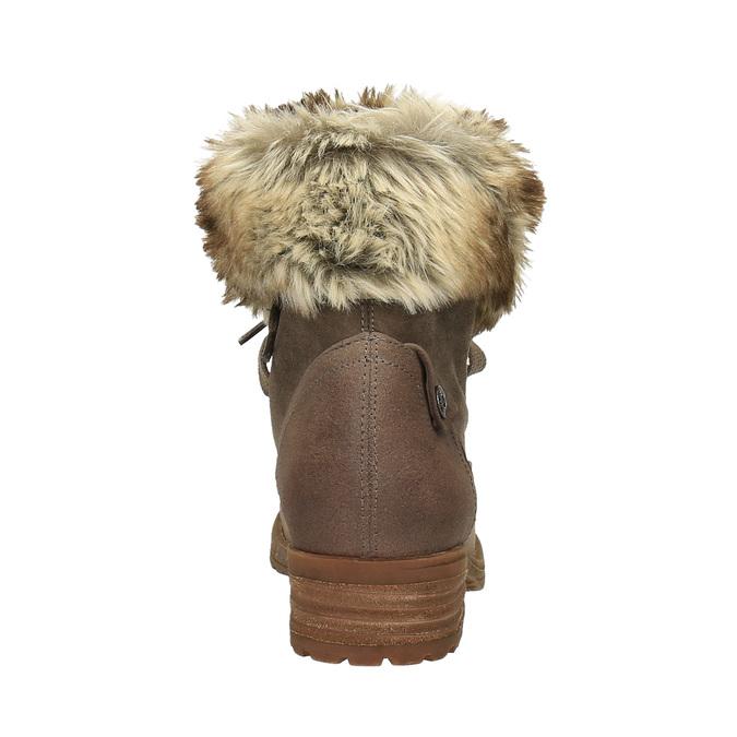 Zimowe buty damskie zfuterkiem bata, brązowy, 591-3605 - 17