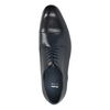 Granatowe półbuty ze skóry bata, niebieski, 826-9769 - 19