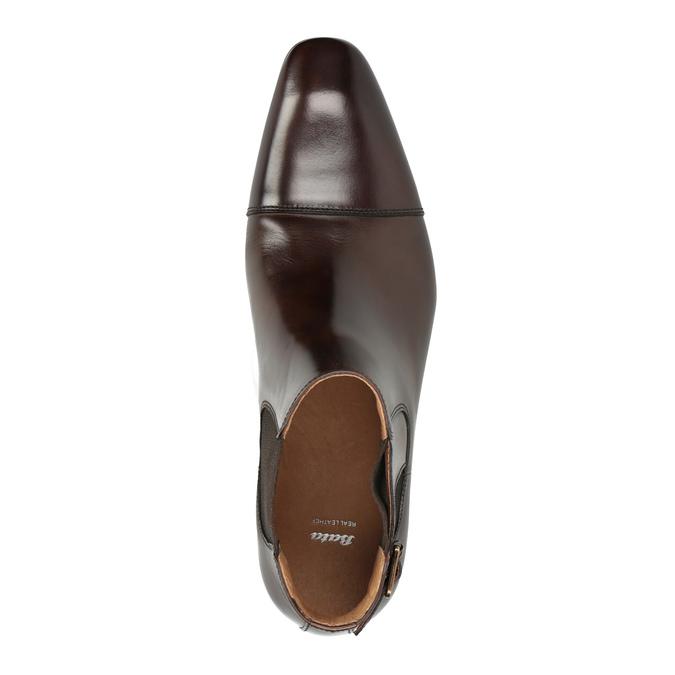 Skórzane buty męskie za kostkę bata, brązowy, 896-4655 - 19