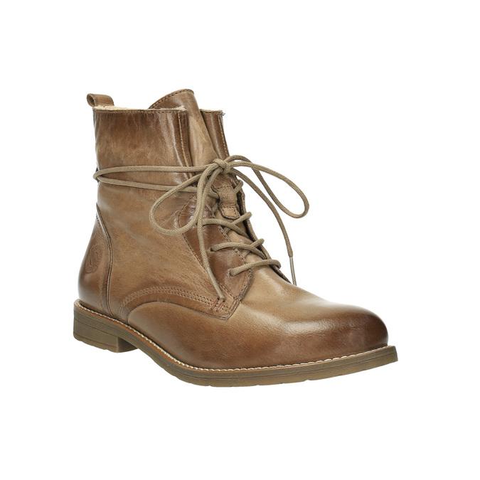 Ocieplane botki ze skóry bata, brązowy, 594-4610 - 13
