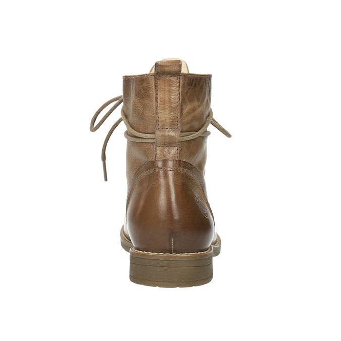 Ocieplane botki ze skóry bata, brązowy, 594-4610 - 17