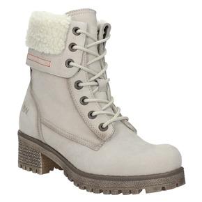 Skórzane buty zimowe zfuterkiem weinbrenner, beżowy, 696-3336 - 13