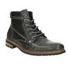 Skórzane buty męskie za kostkę bata, szary, 894-2621 - 13