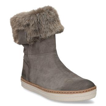 Skórzane buty zimowe z futerkiem weinbrenner, szary, 596-2633 - 13