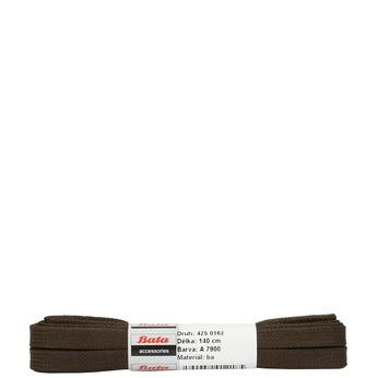 Brązowe sznurowadła płaskie bata, brązowy, 901-4140 - 13