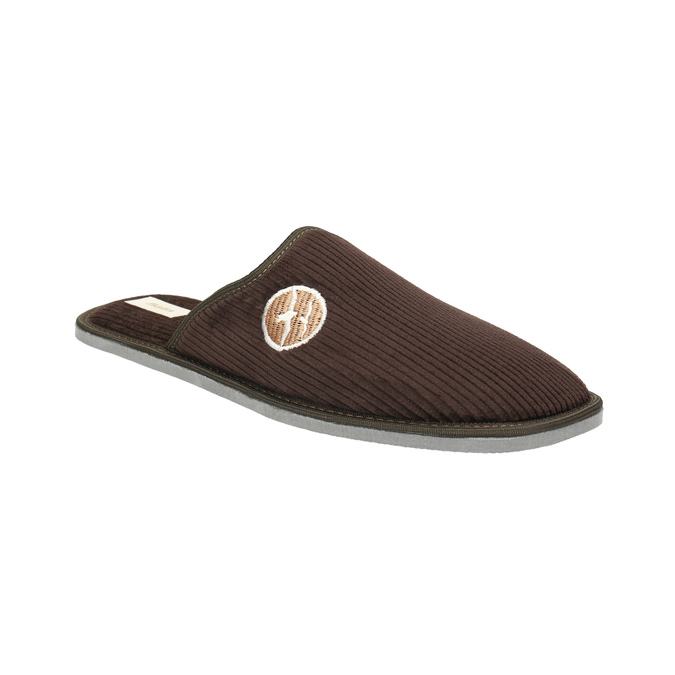 Kapcie męskie zpełnymi noskami bata, brązowy, 879-4609 - 13