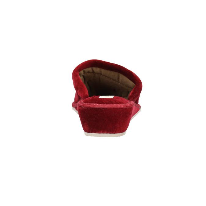 Kapcie damskie na koturnie bata, czerwony, 679-5607 - 17