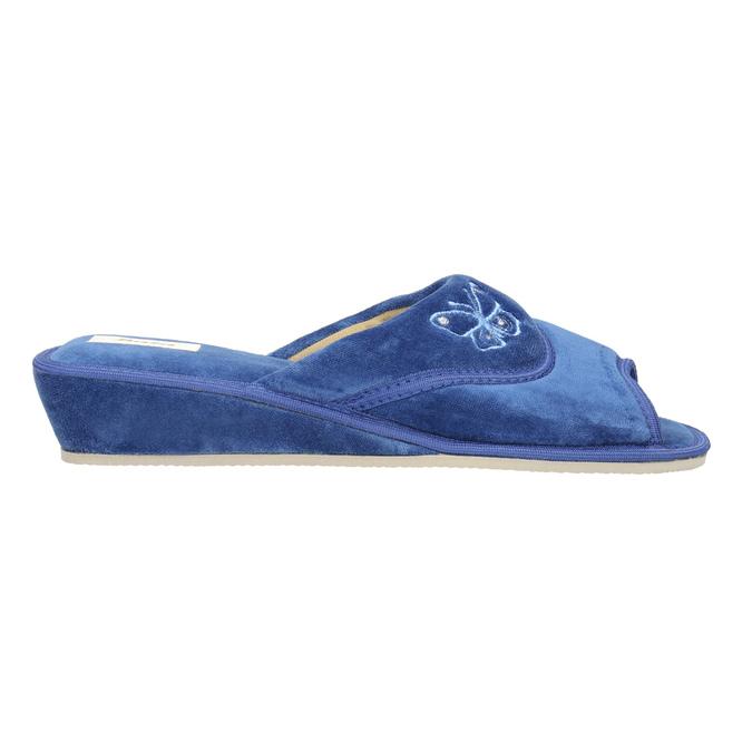 Kapcie damskie bata, niebieski, 679-9606 - 15
