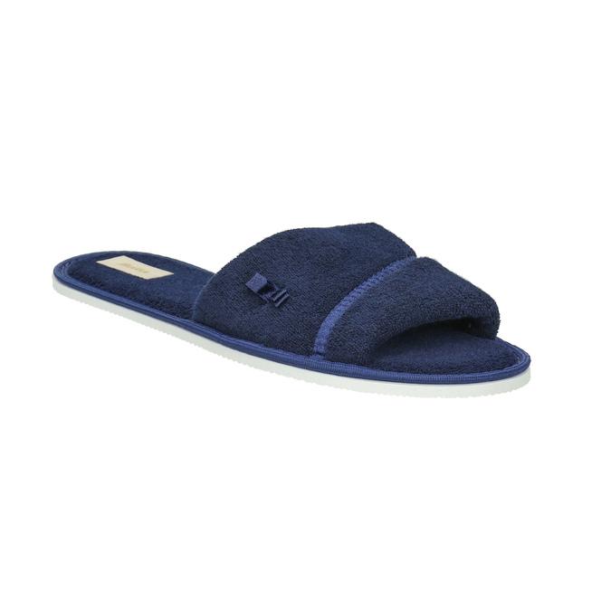 Kapcie damskie zkokardką bata, niebieski, 579-9609 - 13