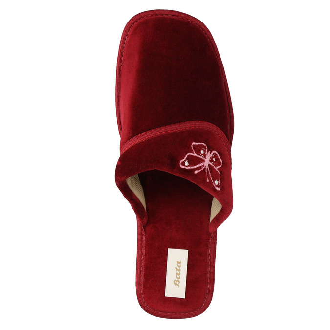 Kapcie damskie na koturnie bata, czerwony, 679-5607 - 19