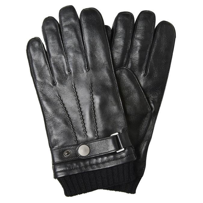 Skórzane rękawiczki męskie bata, czarny, 904-6127 - 13