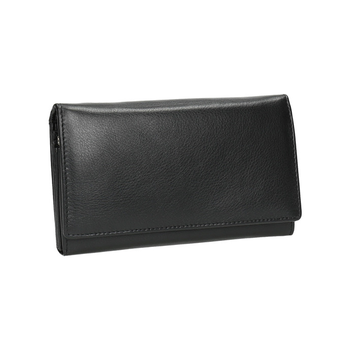 Skórzany portfel damski bata, czarny, 944-6357 - 13