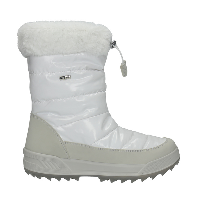 Białe śniegowce damskie zfuterkiem weinbrenner, biały, 591-1617 - 15