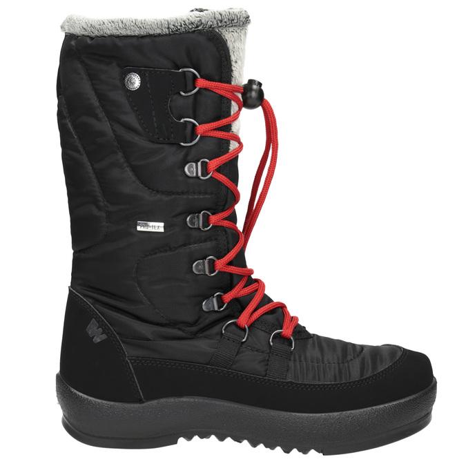 Czarne śniegowce damskie zfuterkiem weinbrenner, czarny, 599-6612 - 15