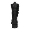 Stylowe damskie kozaki bata, czarny, 599-6610 - 17
