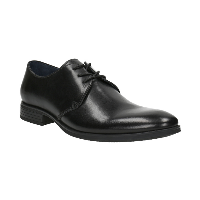 Czarne półbuty ze skóry bata, czarny, 824-6754 - 13