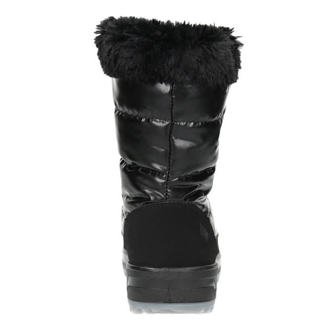 Czarne śniegowce zfuterkiem weinbrenner, czarny, 591-6617 - 17