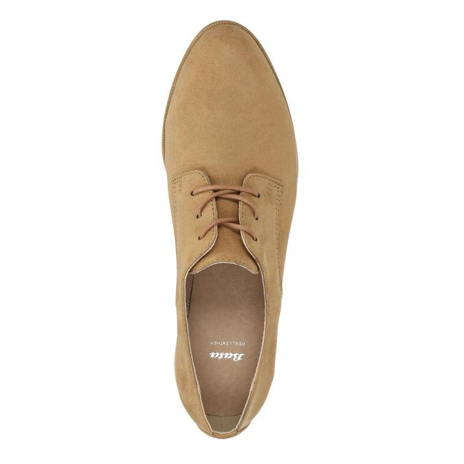 Półbuty angielki damskie bata, brązowy, 529-3632 - 19