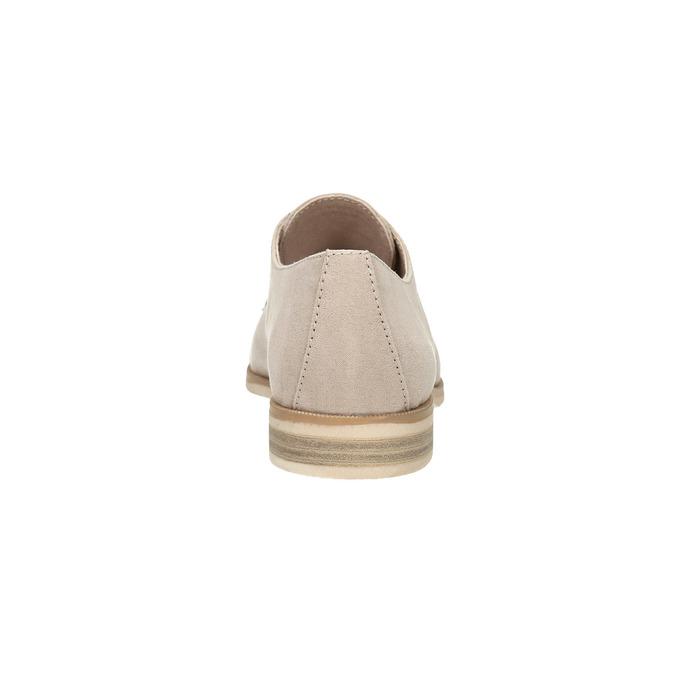Półbuty angielki damskie bata, beżowy, 529-8632 - 17