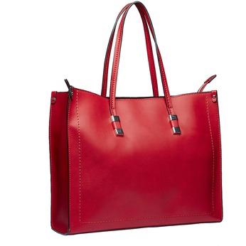 Kwadratowa torebka w stylu Shopper bata, czerwony, 961-5736 - 13