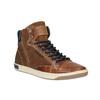 Skórzane trampki za kostkę, zzamkami błyskawicznymi bata, brązowy, 844-3632 - 13