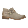 Skórzane botki zklamrami bata, brązowy, 596-3634 - 15