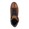 Skórzane trampki za kostkę, zzamkami błyskawicznymi bata, brązowy, 844-3632 - 19