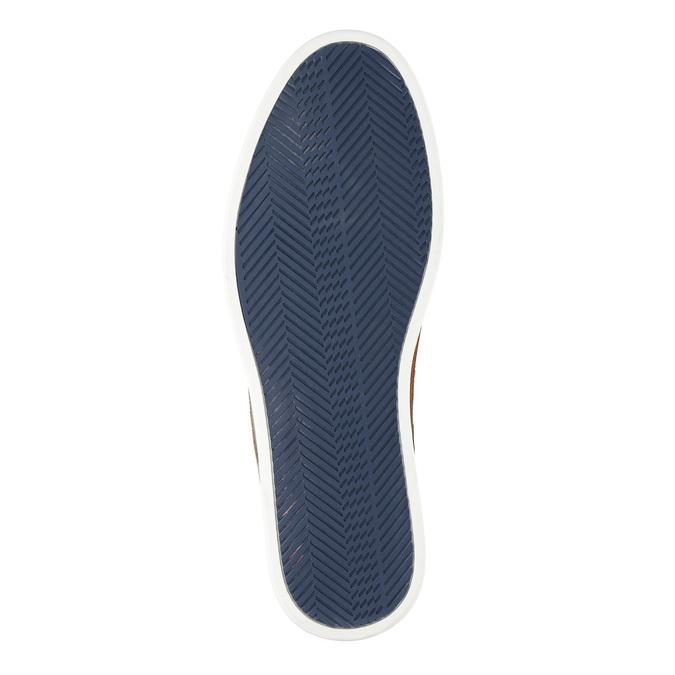 Nieformalne półbuty ze skóry bata, niebieski, 843-9623 - 26