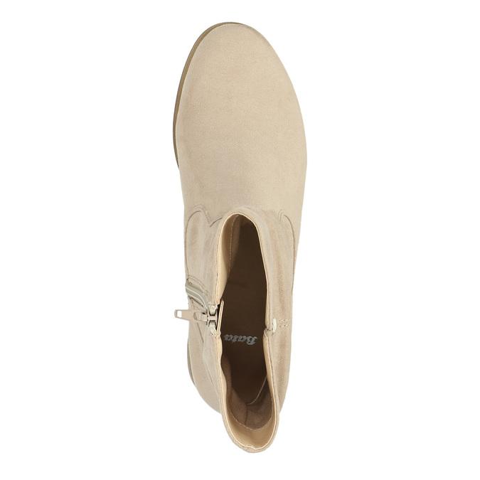 Botki damskie bata, beżowy, 599-8614 - 19