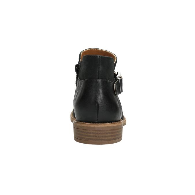 Skórzane botki zklamrami bata, czarny, 596-6634 - 17