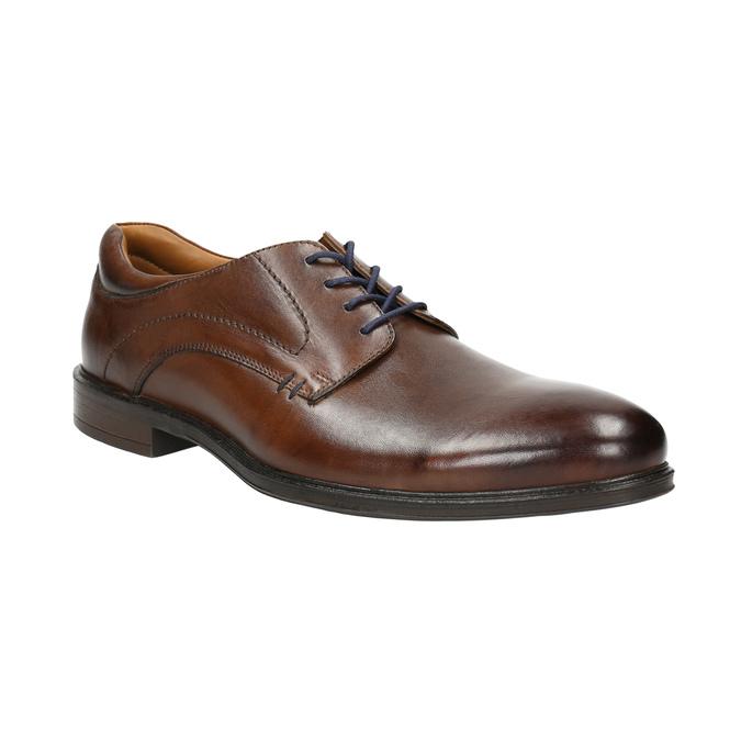 Brązowe półbuty męskie zeskóry bata, brązowy, 826-4800 - 13