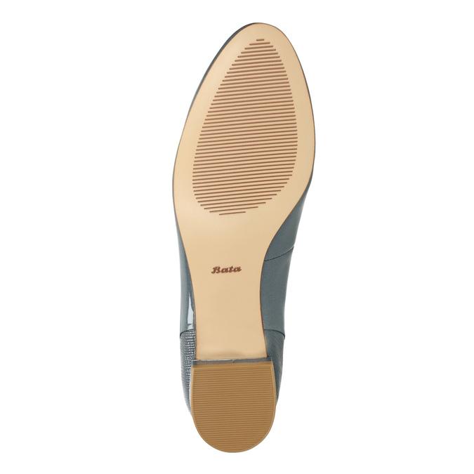 Skórzane damskie buty w stylu Loafers bata, niebieski, 518-9600 - 26