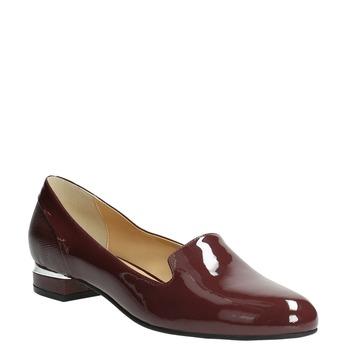 Lakierowane damskie buty Loafers bata, czerwony, 518-5600 - 13