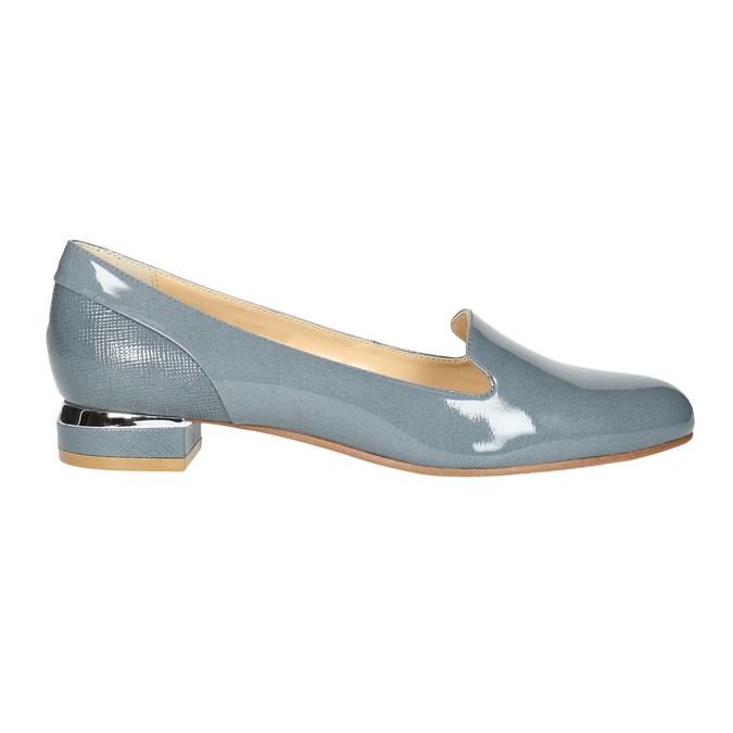 Skórzane damskie buty w stylu Loafers bata, niebieski, 518-9600 - 15