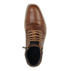 Skórzane buty za kostkę zzamkami błyskawicznymi bata, brązowy, 894-3684 - 19