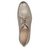 Skórzane półbuty zwzorem łusek bata, złoty, 526-8627 - 19