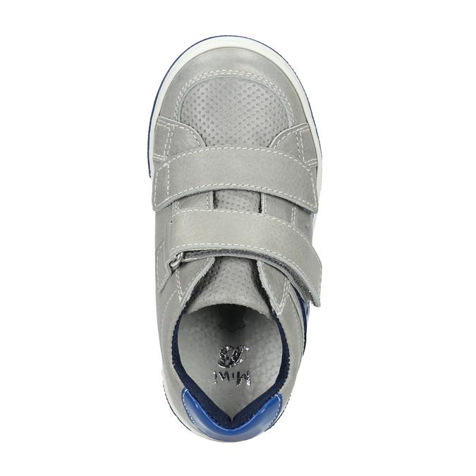 Skórzane dziecięce buty sportowe na rzepy mini-b, szary, 214-2600 - 19