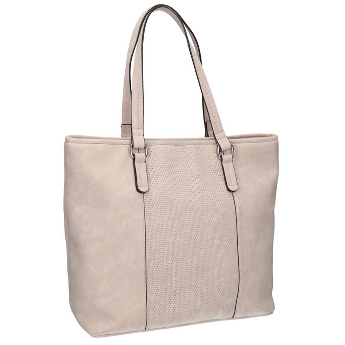Różowa torba zperforacją bata, różowy, 961-5711 - 13